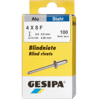 GESIPA Blindnieten Alu 4x8mm Mini-Pack