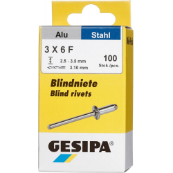 GESIPA Blindnieten Alu 3x6mm Mini-Pack