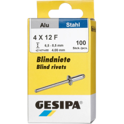 GESIPA Blindnieten Alu 4x12mm Mini-Pack